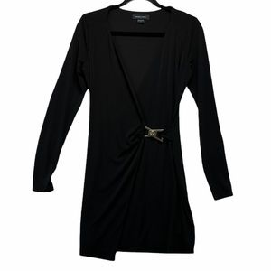 Marciano Wrap Dress Silver Buckle Detail